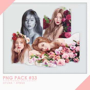 PNG PACK#33 -   Hyun A 4PNGs - By Yangyanggg by Yangyanggg