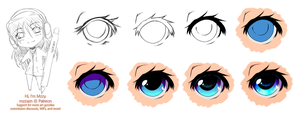 Eye Coloring Phases by MzzAzn
