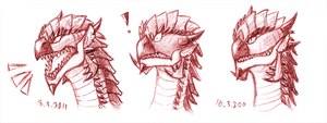 Suprised Rathalos by JuneCat