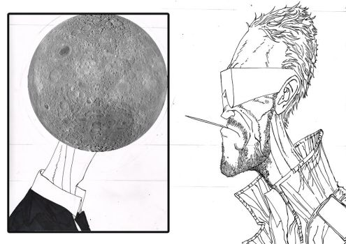 Moon and Shades Rodriguez face-off by Penners