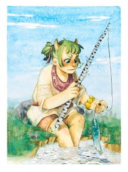 Coko fishing by inu-steakcy