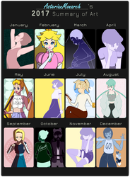 2017 Summary of Art by AsterianMonarch