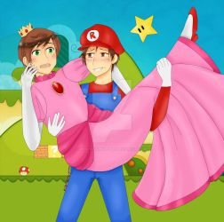 Romano and the princess by World-Twinkle-Bird