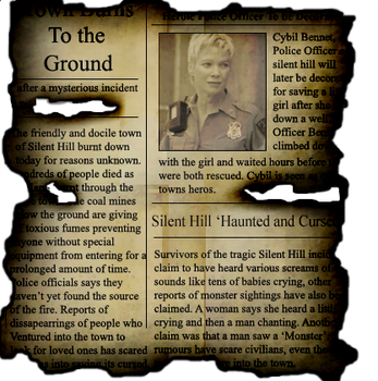Silent Hill newspaper scrap by Burst-fire