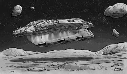 Traveller - Mining Ship by SteamPoweredMikeJ
