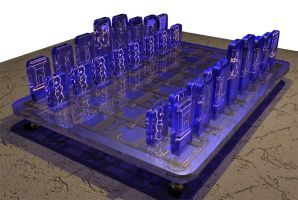 Egyptian Chess Set - Top View by Zayfod