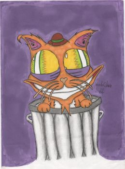 high as a cat by voodoclown