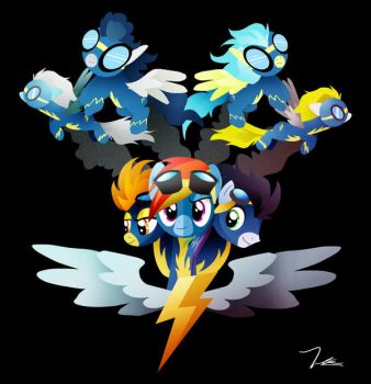The Wonderbolts by Ilona-the-Sinister