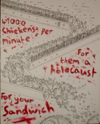 A Chicken Holocaust Sandwich by Paradoxy