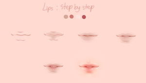 Lips step by step ( detail guide below ) by ORCus51