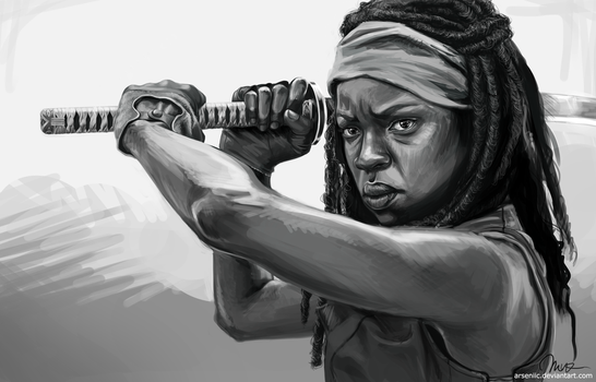Michonne by arseniic
