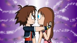 CodyXKatie as Sora and Kairi by KatieGirlsForever