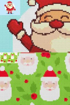 Knitted Christmas Sweater - Photoshop Actions by GraphicAssets