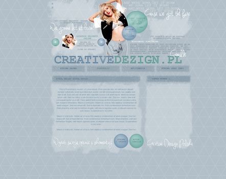 Wordpress uncoded theme with Ellie Goulding. by camilledezign
