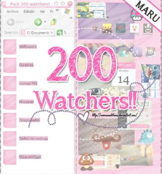 200 watchers!! by MaaruuEditions