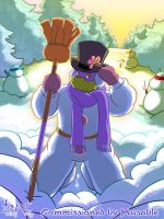 Comm08 - Donnie the Snowman by datingwally