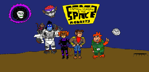Captain Simian and the Space Monkeys by LuciferTheShort