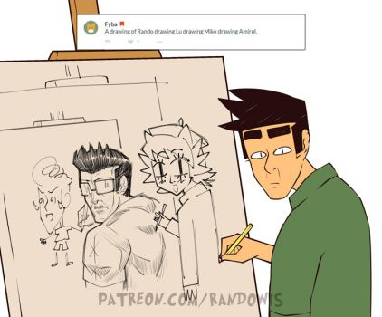Weekly Doodles - Art-ception by RandoWis