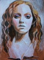 Lily Cole In Crayon. by FreakyArtist