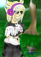 Cyngel in her world with Jett by AngelCnderDream14