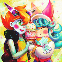 ice cream for two by Cortoony