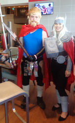 Thor and Odinson cosplay by woodywoodwood