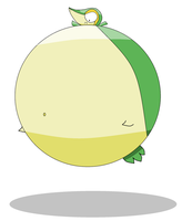 Inflated Snivy by JigglypuffMaster