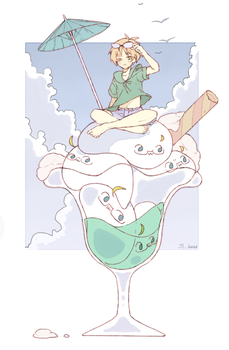 Summer time with lots of mochi in a glass by Jilru2307
