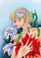Sera and flowers by zoiocen