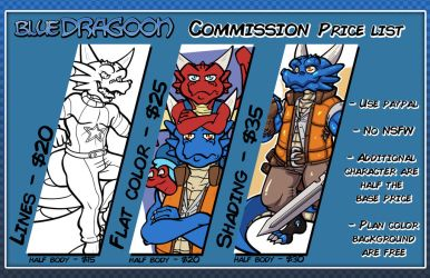 Commission Sheet by The-BlueDragoon