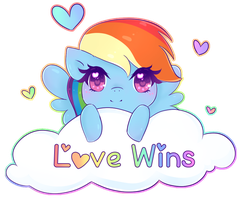 Dashy Love Wins by NekoCakeArt