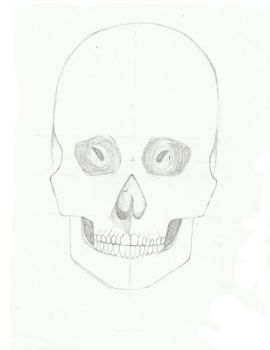 Skull Front-View by BlackStar2661