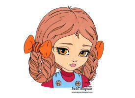 Braids'n Bows Colored by Maiko-Girl