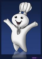The Pillsbury Doughboy by Dragon-Queen01456
