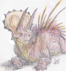 Relaxed Triceratops by Lord-Triceratops