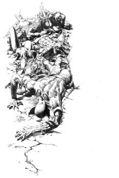 Dark Avengers 16 Cover Pencil by MikeDeodatoJr