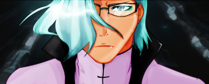 Bleach Character Fusion (Uryuu and Grimmjow) by kyropteran