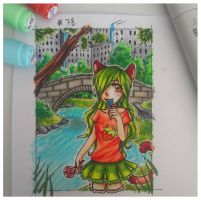Kakao # 78 Strawberry im Central Park by chocobeery