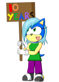 10 Years on DeviantArt by Supersonia