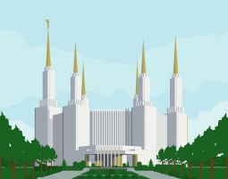Washington DC LDS Temple by tadamson