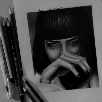 Mia Wallace (Uma Thurman), Pulp Fiction by anabdero