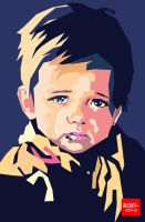 Crying Boy WPAP by roelworks
