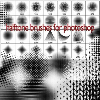 halftone brushes C by roula33