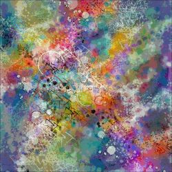 PAINT STAINED ABSTRACT ART by popartdiva