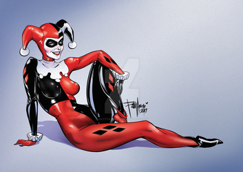 Harley Quinn Classic by Patty Arroyo Art by pattyarroyo