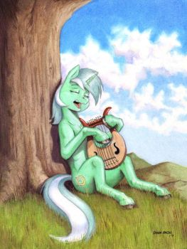 With a song in her heart by Baron-Engel