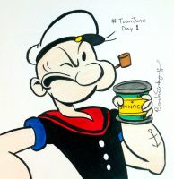 ToonJune Day 1: Popeye by rachetcartoons