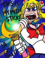 MOON STICK, GOT IT!? by bunnimation