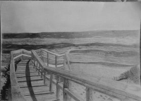 Pier on the beach by Pawel--G