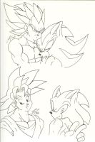 As We Get Closer N Sonic N Goku by SONICJENNY